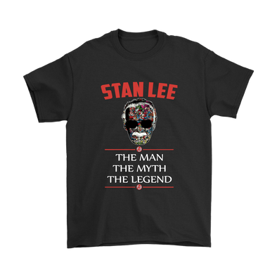 Stan Lee The Man The Myth The Legend Marvel Shirts-T-shirt-Gildan Mens T-Shirt-Black-S-Itees Global