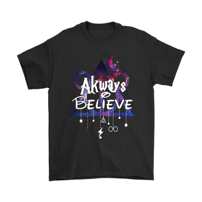 Always Believe Mickey Mouse Harry Potter Shirts-T-shirt-Gildan Mens T-Shirt-Black-S-Itees Global