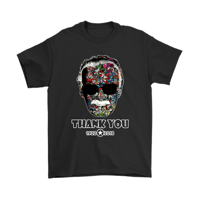 Thank You Stan Lee Marvel Comic Spider Man Our Hero Shirts-T-shirt-Gildan Mens T-Shirt-Black-S-Itees Global