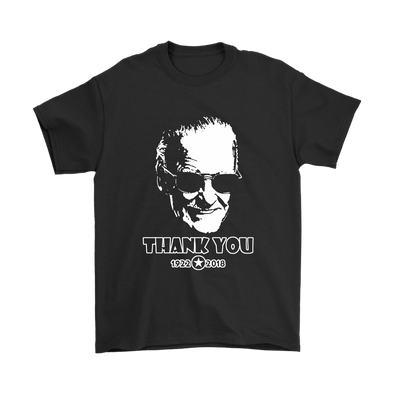 Thank You Stan Lee Marvel Comic Spider Man Our Hero Shirt-T-shirt-Gildan Mens T-Shirt-Black-S-Itees Global