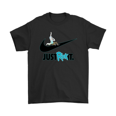 Just Rick It Rick And Morty Nike Logo Shirts-T-shirt-Geek Mundo Store