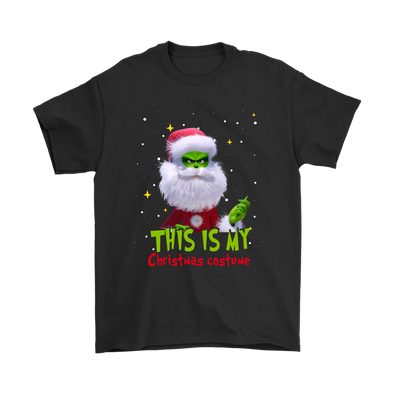 This Is My Christmas Costume Dr. Seuss' The Grinch Christmas Cartoon Shirt-T-shirt-Gildan Mens T-Shirt-Black-S-Geek Mundo Store