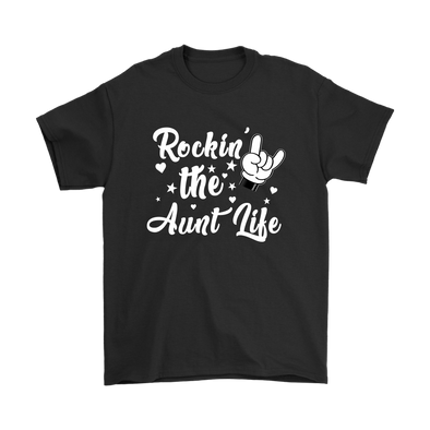 Rockin The Aunt Life Mickey Mouse Disney Shirts-T-shirt-Gildan Mens T-Shirt-Black-S-Geek Mundo Store