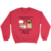 A Woman Can Not Survive On Coffee Alone She Also Needs A Pug Love Dogs Shirts-T-shirt-Crewneck Sweatshirt-Red-S-Geek Mundo Store