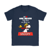We Are Never Too Old For Snoopy Snoopy Woodstock The Peanuts Movie Shirts-T-shirt-Gildan Womens T-Shirt-Navy-S-Itees Global