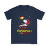 Together Christmas Is A Little Cozier Snoopy Woodstock The Peanuts Movie Shirts-T-shirt-Gildan Womens T-Shirt-Navy-S-Itees Global