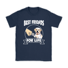 Labrador Retriever Best Friends For Life Dog Shirts-T-shirt-Gildan Womens T-Shirt-Navy-S-Geek Mundo Store
