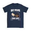 Rottweiler Best Friends For Life Dog Shirts-T-shirt-Gildan Womens T-Shirt-Navy-S-Geek Mundo Store