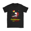 Together Christmas Is A Little Cozier Snoopy Woodstock The Peanuts Movie Shirts-T-shirt-Gildan Womens T-Shirt-Black-S-Itees Global