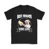 Labrador Retriever Best Friends For Life Dog Shirts-T-shirt-Gildan Womens T-Shirt-Black-S-Geek Mundo Store