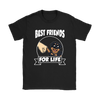 Rottweiler Best Friends For Life Dog Shirts-T-shirt-Gildan Womens T-Shirt-Black-S-Geek Mundo Store
