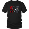 Bad Kitty DeadPool Black Panther Shirts-T-shirt-District Unisex Shirt-Black-S-Itees Global