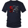 Bad Kitty DeadPool Black Panther Shirts-T-shirt-District Unisex Shirt-Navy-S-Itees Global