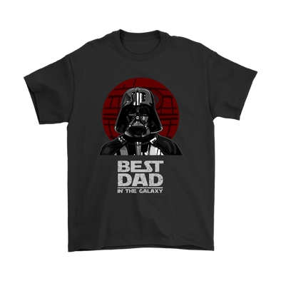 Best Dad In The Galaxy Star Wars Family Movies Shirts-T-shirt-Gildan Mens T-Shirt-Black-S-Geek Mundo Store