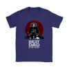 Best Dad In The Galaxy Star Wars Family Movies Shirts-T-shirt-Gildan Womens T-Shirt-Purple-S-Geek Mundo Store