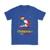 Together Christmas Is A Little Cozier Snoopy Woodstock The Peanuts Movie Shirts-T-shirt-Gildan Womens T-Shirt-Royal Blue-S-Itees Global