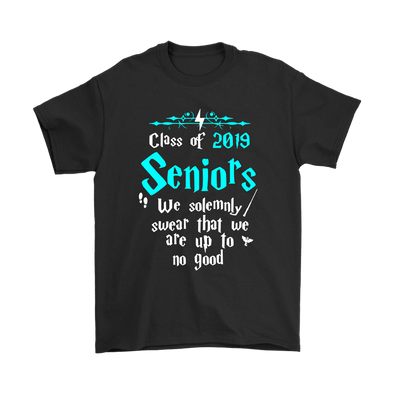 Class Of 2019 Seniors We Solemnly Swear That We Are Up To No Good Harry Potter Shirts-T-shirt-Gildan Mens T-Shirt-Black-S-Itees Global