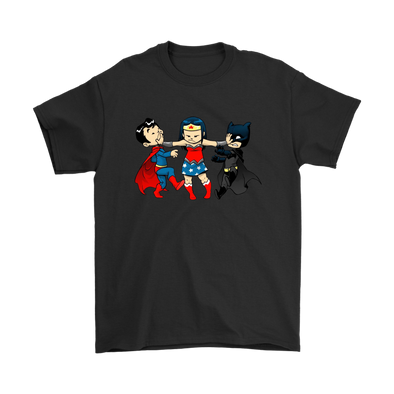 Comic Con - Superchildish Miniature Mayhem Superman Wonder Woman Batman Shirts-T-shirt-Geek Mundo Store