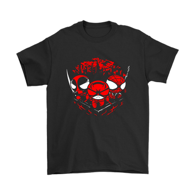 Comic Con - Team Redpuff Boys Deadpool Daredevil Spiderman Shirts-T-shirt-Gildan Mens T-Shirt-Black-S-Geek Mundo Store