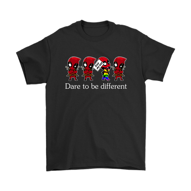 Dare To Be Different Deadpool Shirts-T-shirt-Gildan Mens T-Shirt-Black-S-Itees Global
