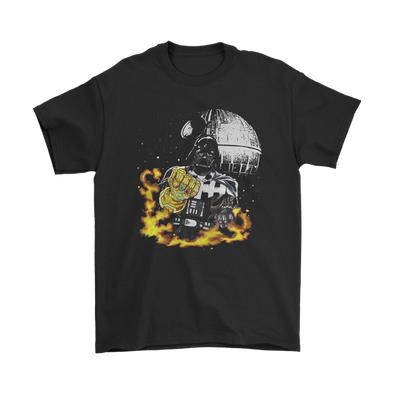 Darth Vader Gauntlet Avengers Infinity War Star Wars Shirts-T-shirt-Gildan Mens T-Shirt-Black-S-Geek Mundo Store