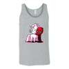 Deadpool Loves Unicorns Marvel Shirts-T-shirt-Canvas Unisex Tank-Athletic Grey-S-Geek Mundo Store