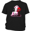 Deadpool Loves Unicorns Marvel Shirts-T-shirt-District Youth Shirt-Black-XS-Geek Mundo Store