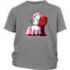 Deadpool Loves Unicorns Marvel Shirts-T-shirt-District Youth Shirt-Sport Grey-XS-Geek Mundo Store