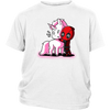 Deadpool Loves Unicorns Marvel Shirts-T-shirt-District Youth Shirt-White-XS-Geek Mundo Store