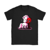 Deadpool Loves Unicorns Marvel Shirts-T-shirt-Gildan Womens T-Shirt-Black-S-Geek Mundo Store