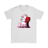 Deadpool Loves Unicorns Marvel Shirts-T-shirt-Gildan Womens T-Shirt-White-S-Geek Mundo Store