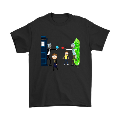 Doctor Who Meets Rick And Morty Shirts-T-shirt-Geek Mundo Store