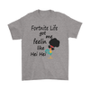 Fortnite – Fortnite Life Got Me Feelin Like Hei Hei Shirts-T-shirt-Gildan Mens T-Shirt-Sport Grey-S-Itees Global