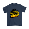 Fortnite – If You Want Me To Listen To You Shirts-T-shirt-Gildan Mens T-Shirt-Navy-S-Geek Mundo Store