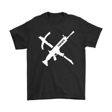 Fortnite – Long Gun Shirts-T-shirt-Gildan Mens T-Shirt-Black-S-Itees Global