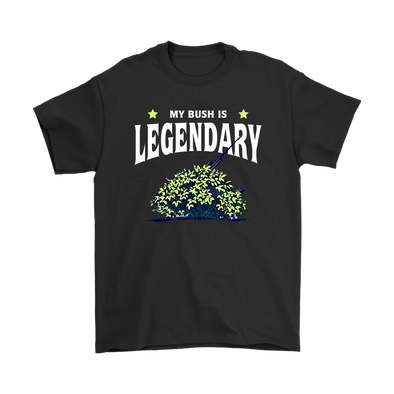 Fortnite – My Bush Is Legendary Shirts-T-shirt-Gildan Mens T-Shirt-Black-S-Itees Global