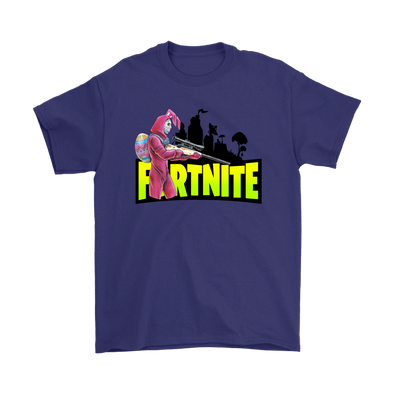 Fortnite – Rabbit Raider Shirts-T-shirt-Gildan Mens T-Shirt-Purple-S-Itees Global