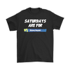 Fortnite – Saturdays Are For Victory Royale Shirts-T-shirt-Gildan Mens T-Shirt-Black-S-Itees Global