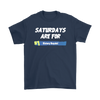 Fortnite – Saturdays Are For Victory Royale Shirts-T-shirt-Gildan Mens T-Shirt-Navy-S-Itees Global