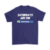 Fortnite – Saturdays Are For Victory Royale Shirts-T-shirt-Gildan Mens T-Shirt-Purple-S-Itees Global