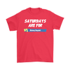 Fortnite – Saturdays Are For Victory Royale Shirts-T-shirt-Gildan Mens T-Shirt-Red-S-Itees Global