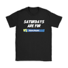 Fortnite – Saturdays Are For Victory Royale Shirts-T-shirt-Gildan Womens T-Shirt-Black-S-Itees Global