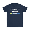 Fortnite – Saturdays Are For Victory Royale Shirts-T-shirt-Gildan Womens T-Shirt-Navy-S-Itees Global
