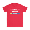 Fortnite – Saturdays Are For Victory Royale Shirts-T-shirt-Gildan Womens T-Shirt-Red-S-Itees Global