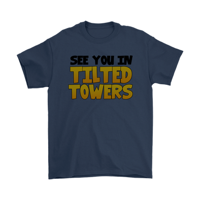 Fortnite – See You In Tilted Towers Shirts-T-shirt-Gildan Mens T-Shirt-Navy-S-Itees Global