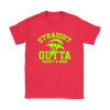 Fortnite – Straight Outta Moisty Mire Shirts-T-shirt-Gildan Womens T-Shirt-Red-S-Itees Global