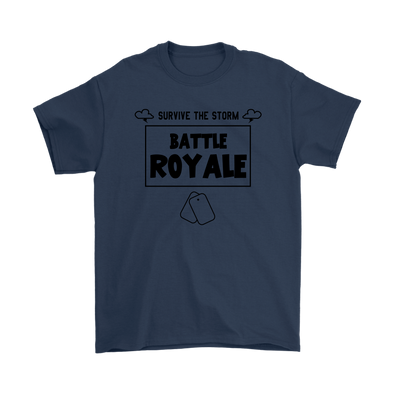Fortnite - Survive The Storm Battle Royale Shirts-T-shirt-Gildan Mens T-Shirt-Navy-S-Geek Mundo Store