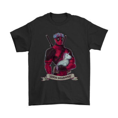 Good Deadpool Unicorn Shirts-T-shirt-Gildan Mens T-Shirt-Black-S-Geek Mundo Store