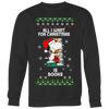 All I Want For Christmas Is Books Snoopy The Peanuts Movie Sweatshirt-T-shirt-Crewneck Sweatshirt Big Print-Black-S-Geek Mundo Store