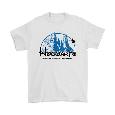Harry Potter Hogwarts School of Witchcraft and Wizardry Shirts-T-shirt-Gildan Mens T-Shirt-White-S-Itees Global